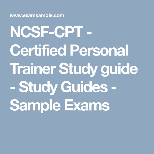 NCSF-CPT – Certified Personal Trainer Study guide – Study Guides ...