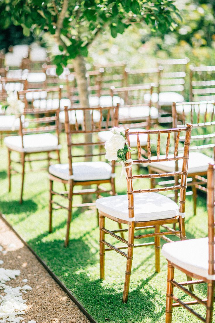 Wedding garden chairs - Feminine Summer Garden Wedding