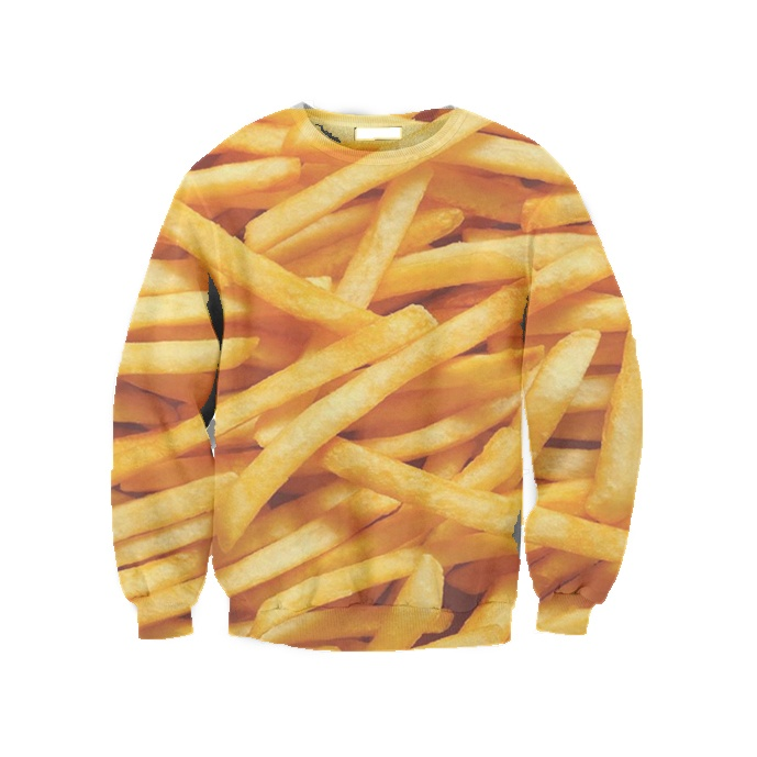 french fries sweatshirt from Beloved Shirts