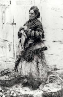 A Jewess Selling Friut    Gierymski Aleksander (1850-1901)  Signature: u.r.: A GIERYMSKI. / 80