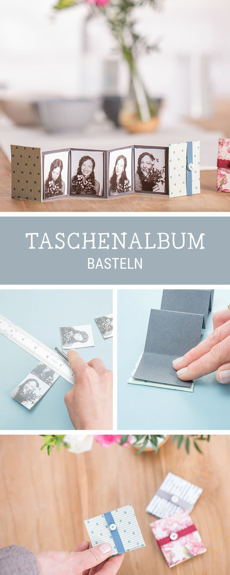 Kleines Fotoalbum selbermachen, DIY für ein Leporello, Geschenkidee für die beste Freundin / best friend giftidea: how to craft a mini photo album via DaWanda.com (Diy Crafts Valentines)
