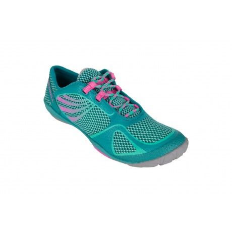The Merrell Pace Glove 2 is a barefoot running shoe with synthetic leather and mesh upper, TrailProtect pad and Vibram outsole.