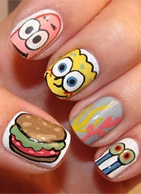 Spongebob Squarepants!: Bobs, Nailart, Sponge Bob, Nail Designs, Beauty, Spongebobnails, Nail Art, Spongebob Nails