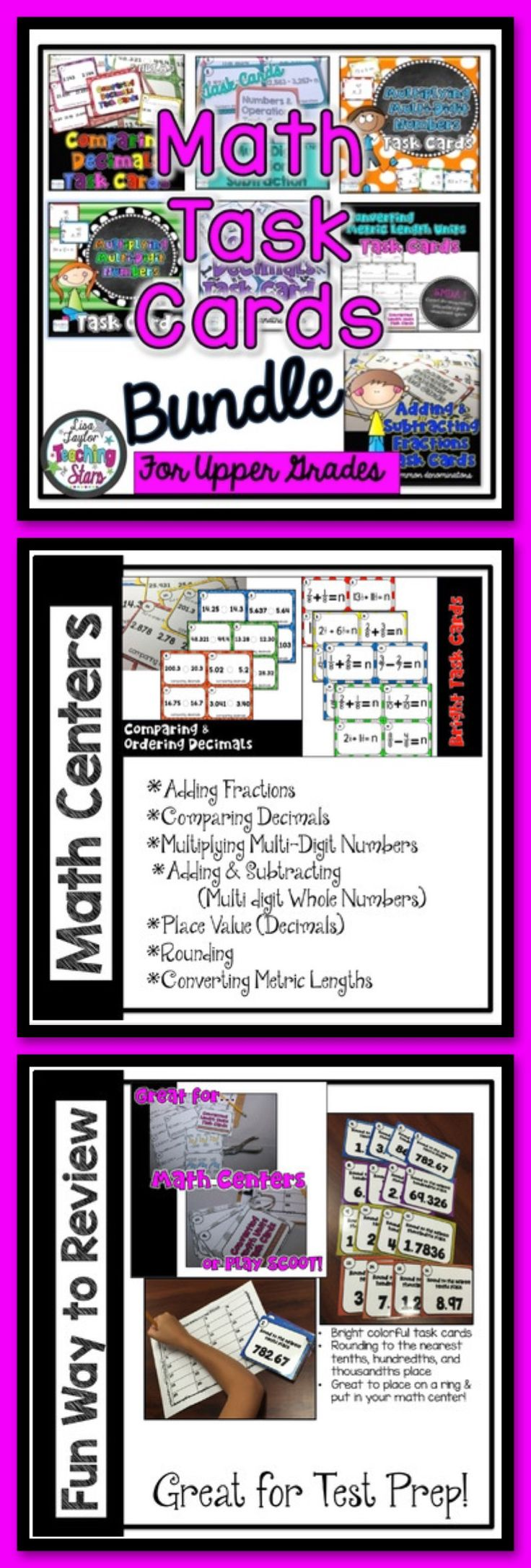 Bilingual dolphin counting card 6 clipart etc - Math Task Cards Bundle
