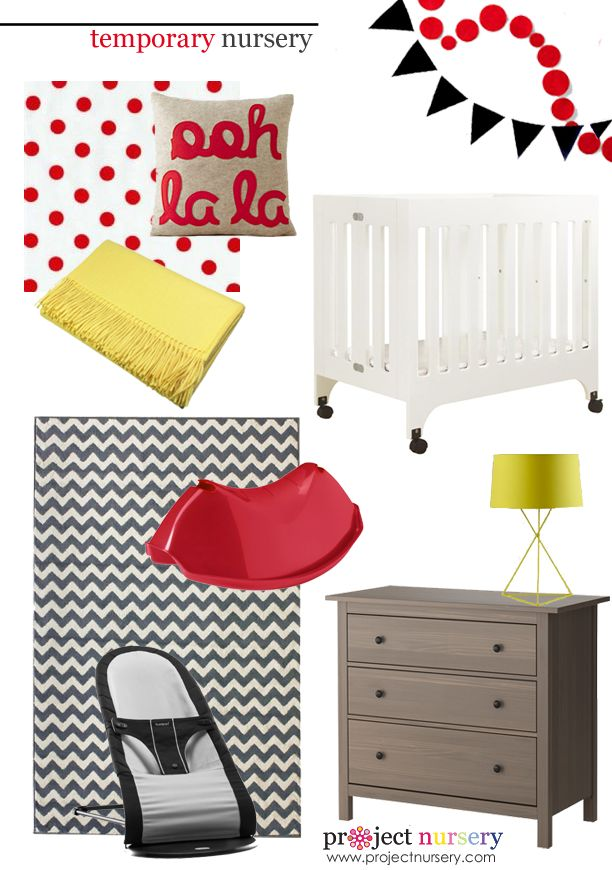 Ideas for a nursery in a temporary home - #designboard #nursery