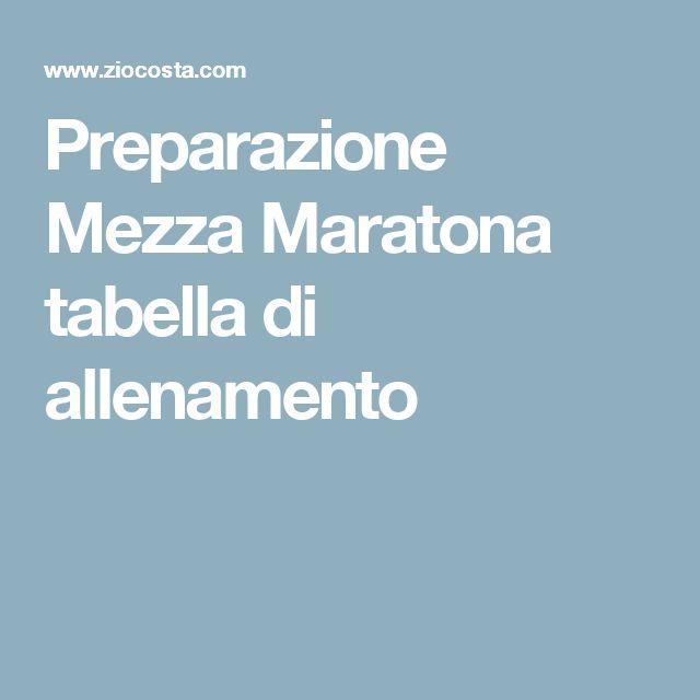 Preparazione Mezza Maratona tabella di allenamento