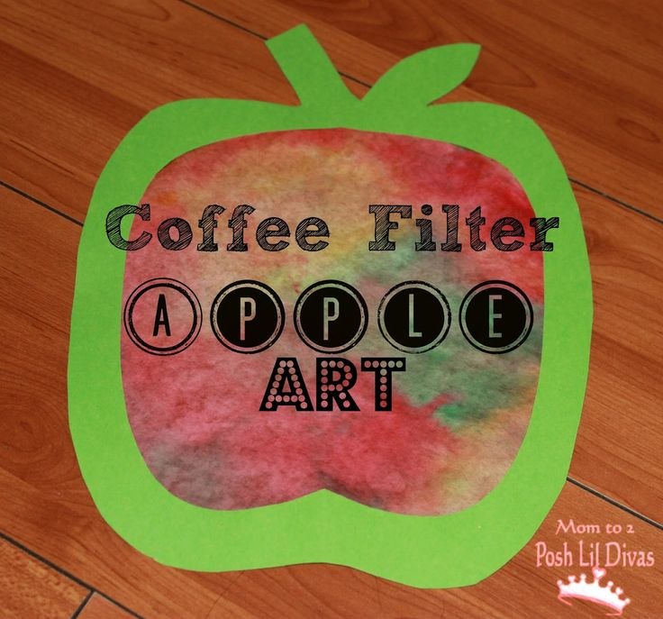 art activities for preschoolers | Fall Crafts: Coffee Filter Apple Art for Kids