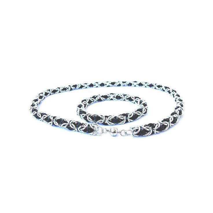 Pánský elegantní náramek zeloxovaných hliníkových kroužků - velmi lehký. Je možno vyrobit jakkoli dlouhý náramek či náhrdelník. Cena je za 1cm výrobku (nezáleží na délce ani na tvaru či barvě kroužků). Více níže... Fotografie jsou ilustrační pro představu...