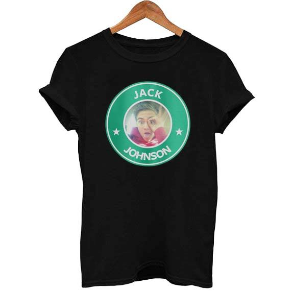 jack johnson starbucks T Shirt Size S,M,L,XL,2XL,3XL