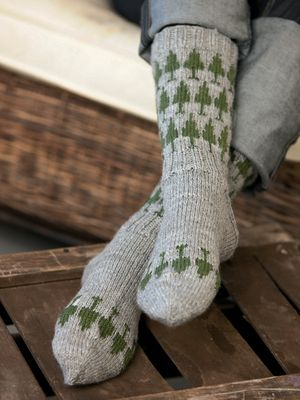 Neulotut kuusisukat Novita Nalle | Novita knits