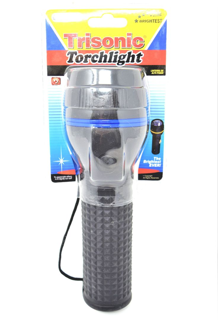 "Trisonic Brightest Ever Torchlight (2 ""D"" Batteries)"