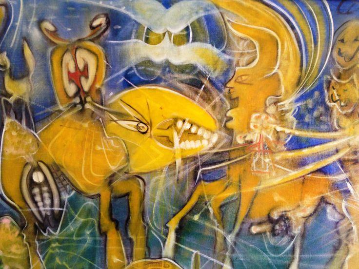 Roberto Matta (Chilean, 1911-2002), Fauna cosmica, 1960
