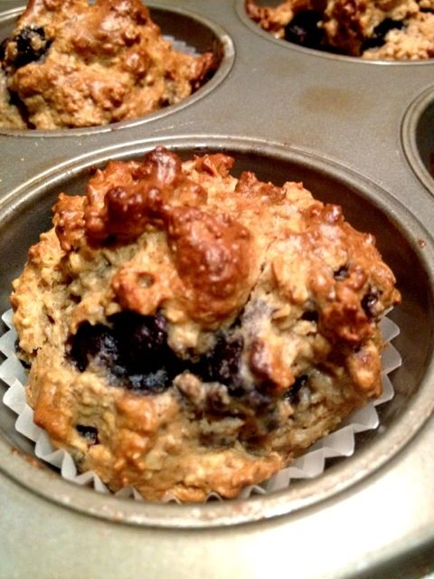 Blueberry Oat Muffins (high protein, low sugar, high fiber) | iheartwellness.com