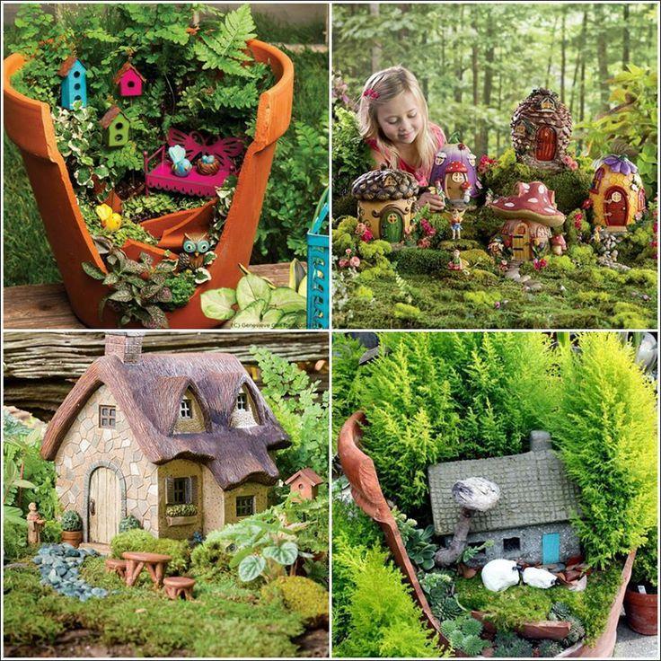 Gnome In Garden: Very Cute Little Fairy And Gnome Garden.