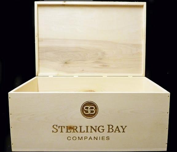 Sterling Bay 12 bottle flip-top custom wine crate