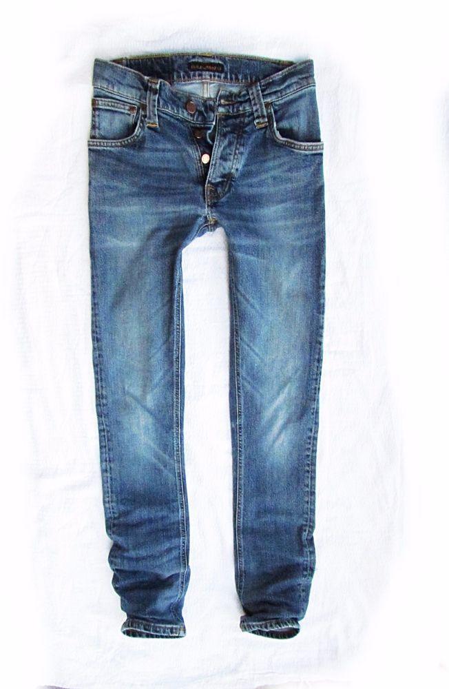 ladies   jeans Nudie   Grim Tim org.twisted blue  W29 L32 #NudieJeans #SlimSkinny