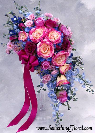(half cascade, half crescent) bridal bouquet by Something Floral / Something Spectacular, Warren, MI,