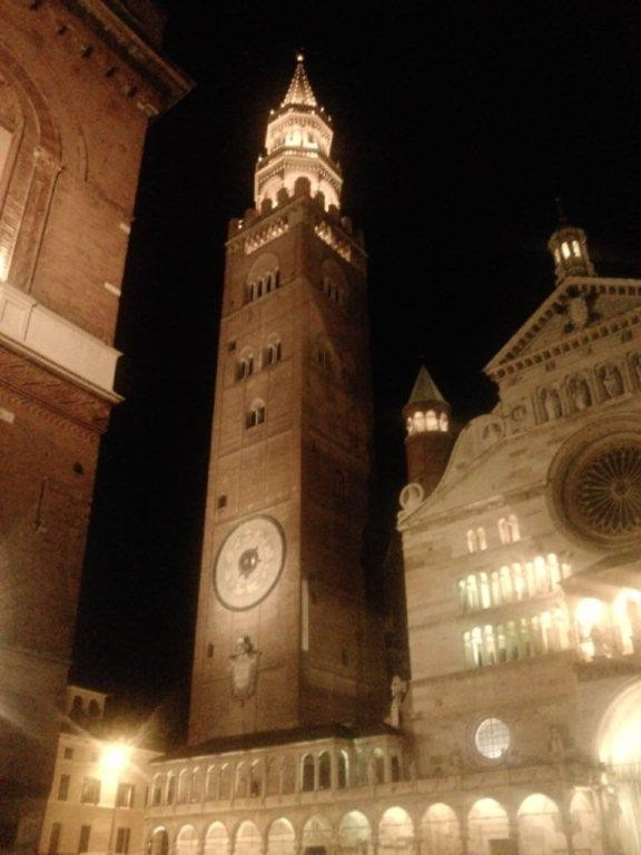 Cremona alla notte - Cremona at night,province of Cremona Lombardy region Italy