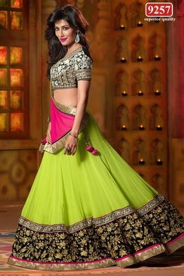India GeorgetteNetDhupion Saree Bollywood Sarees Online on Shimply.com