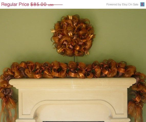 GARLAND SALE Fall Garland Mantle Decor Autumn by wreathsbyrobin, $76.50