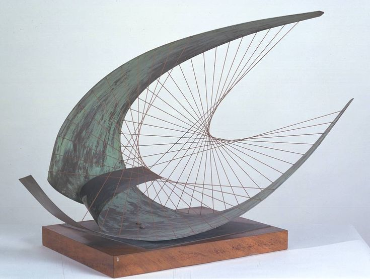 Barbara Hepworth- Stringed Figure (Curlew), Version II 1956, edition, 1959.