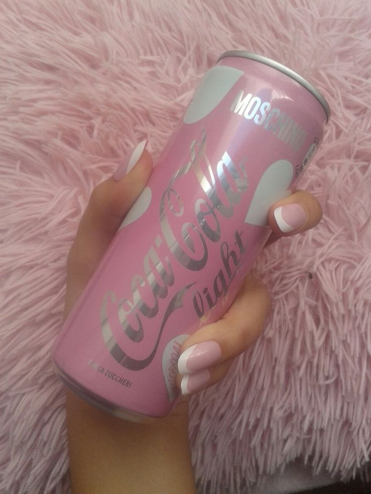 Baby pink Coca Cola Light can by Moschino                              …