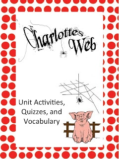 Charlotte's Web Activities, Quizzes, and Vocabulary