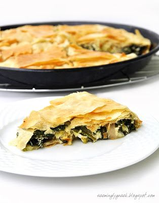 Authentic spinach pie with feta cheese. A classic Greek snack. You can make this simple and delicious pie over and over, and once you taste it, you will most definitely want to. It is a really…