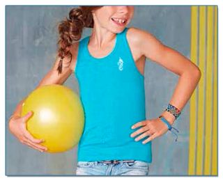 SeaHorse-Collection, girls' racer back tank top, 15,99€