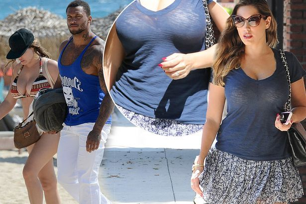 Kelly Brook flashes engagement ring just ONE DAY before announcing split with David Mcintosh