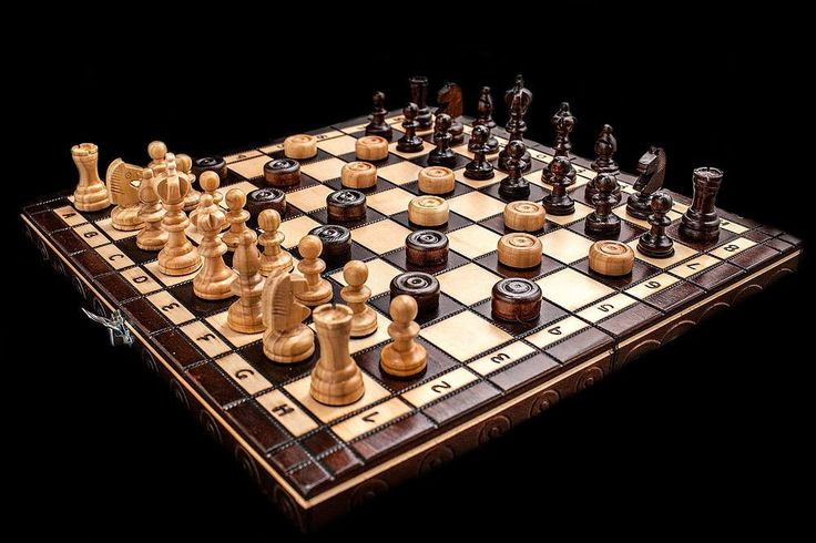 Hand Crafted Cherry Wooden Chess And Draughts Set. Visit us now and ENJOY 10% OFF + FREE SHIPPING on all orders