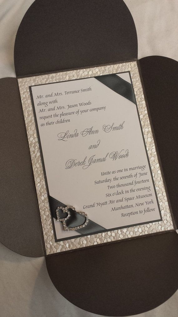 sample wedding invitation letter for uk visa%0A Double Layered Metallic Grey Petal Fold with by SincerelyCouture           www sincerelycouture com    Embossed Wedding InvitationsMetallic
