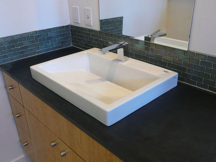 Subway tile vanity backsplash google search new for Small bathroom vanity backsplash ideas