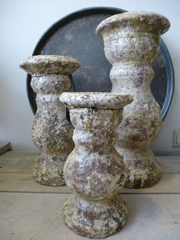 Brynxz earth vintage candle holders. www.gnuswonen.nl