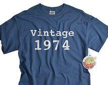 40th birthday 40th birthday party shirt for men and women vintage 1974 birthday tshirt