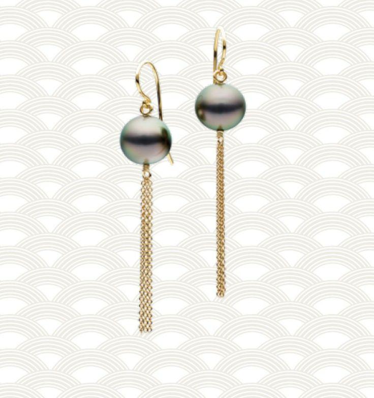 Jan Logan Tahitian Pearl 'Borla' Earrings