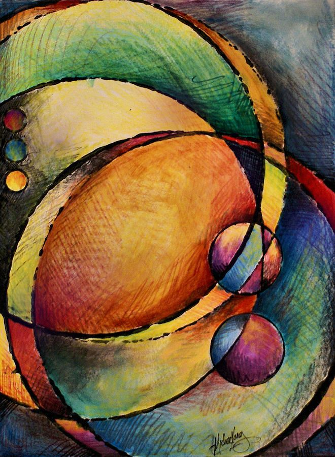 Abstract Design 82 Painting by Michael Lang - Abstract Design 82 Fine Art Prints and Posters for Sale