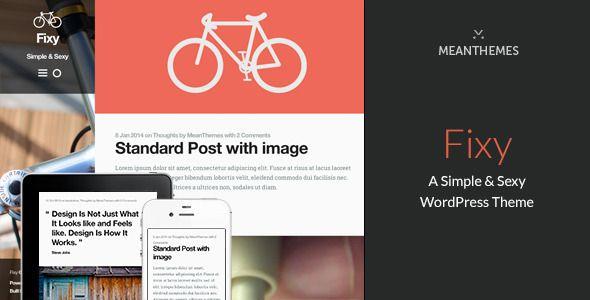 Fixy: A Simple & Sexy WordPress Theme - Personal Blog / Magazine