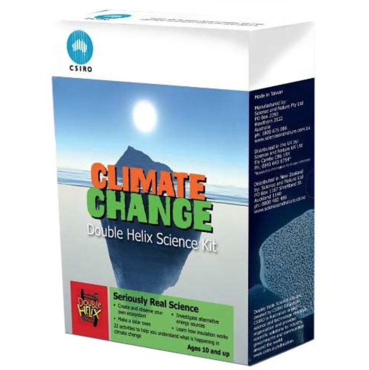 dinosaursplus.co.nz - Climate Change - Double Helix Science Kit. The Earth's climate is changing. Around the globe, it's getting warmer both on land and in the oceans. It's raining less in some areas, more in others; in some places, storms and flooding are happening more often and are more severe; and the sea level is rising. With this kit you can find out why our climate is changing, how the changes affect life on our planet and what we can do to adjust to them. Carry out hands-on…