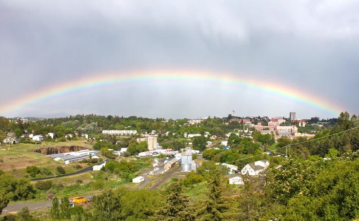 Rainbow shines over WSU, Memorial Day 2012.