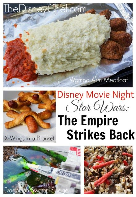 Star Wars Party Food Ideas - Have you ever eaten Wampa Arm? Or sludge from Yoda's swamp? Here's how you can add these foods to your Star Wars themed bash!