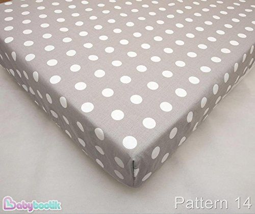 Junior Cotton Cot Bed Fitted Sheet 70x140cm (in favorite fabric pattern / design) - Pattern 14