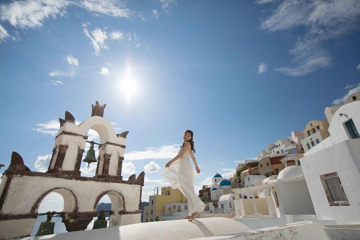 Sunrise | Erica and Don – Wedding Session in Santorini with Sunrise Greece