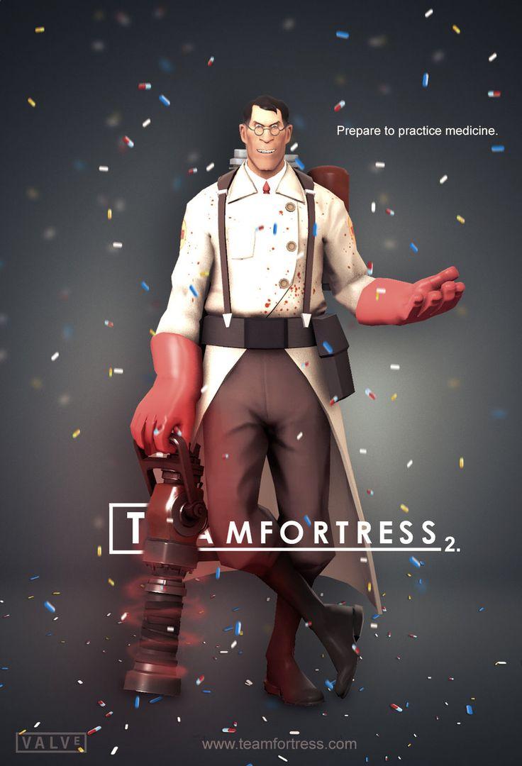 Team Fortress 2: Medic Poster [House] by *KlausHeissler on deviantART