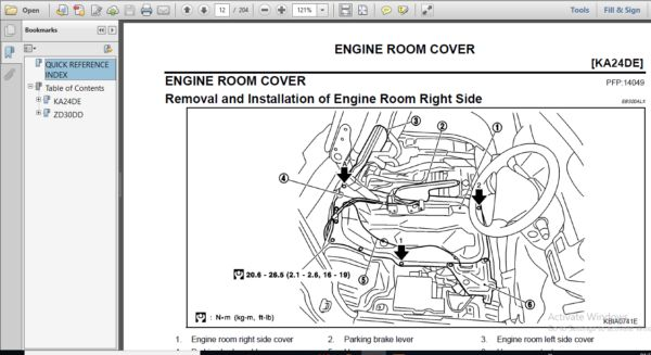 Nissan Zd30dd Ka24de Engine Workshop Repair Manual