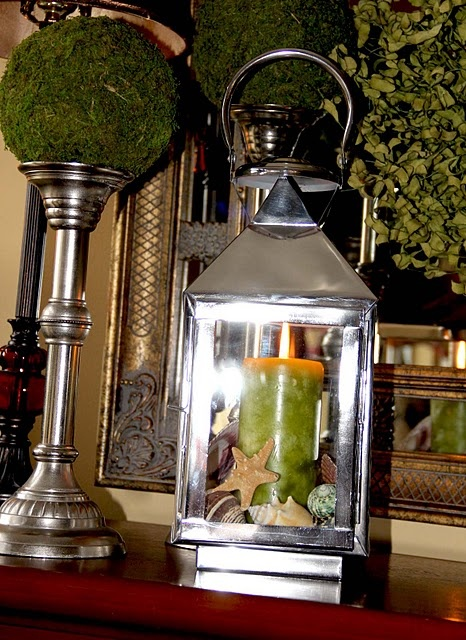 moss topiary and lantern: Shower Ideas, Laternen Und, Lights Ems, Moss Topiaries, Accessories Lanterns, Decs Ideas, Lanterns Lights, Und Windlicht, Lights Shinee