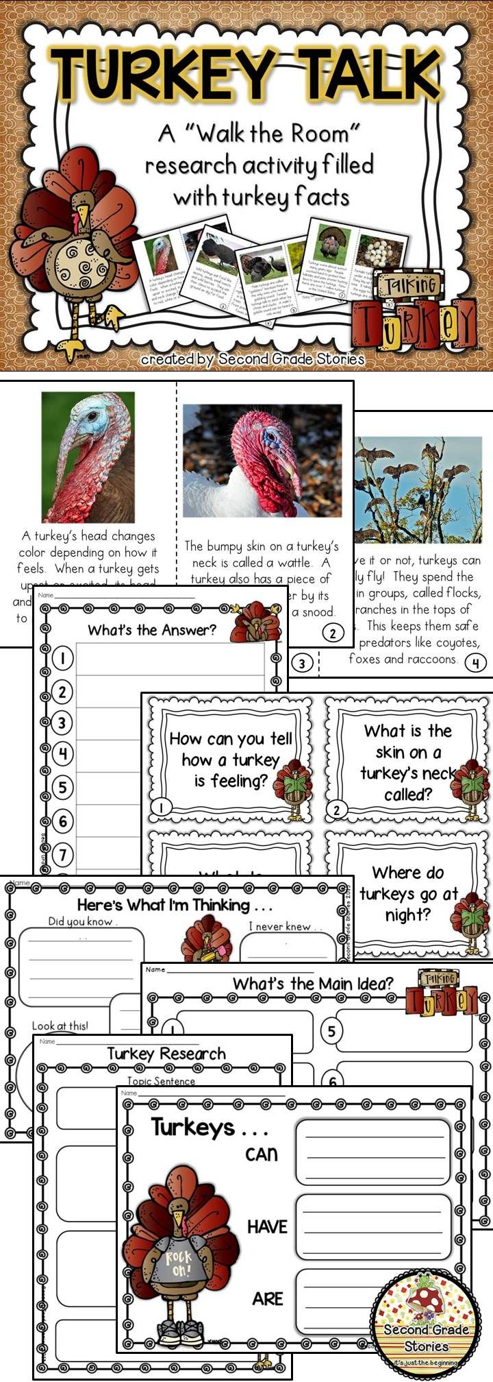 $ - great way to learn about turkeys; lots of different options for differentiation