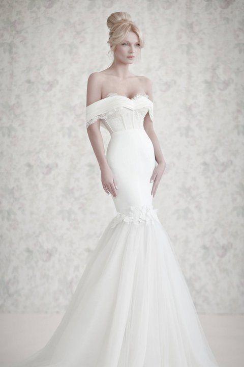 Vestido de Noiva Yaki ravid - ombros de fora