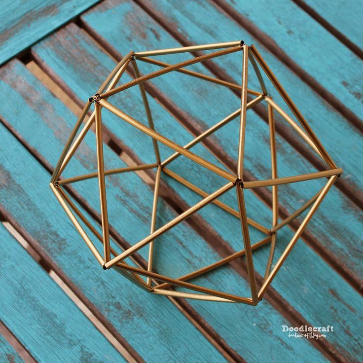 Himmeli icosahedron geometric knick knack!