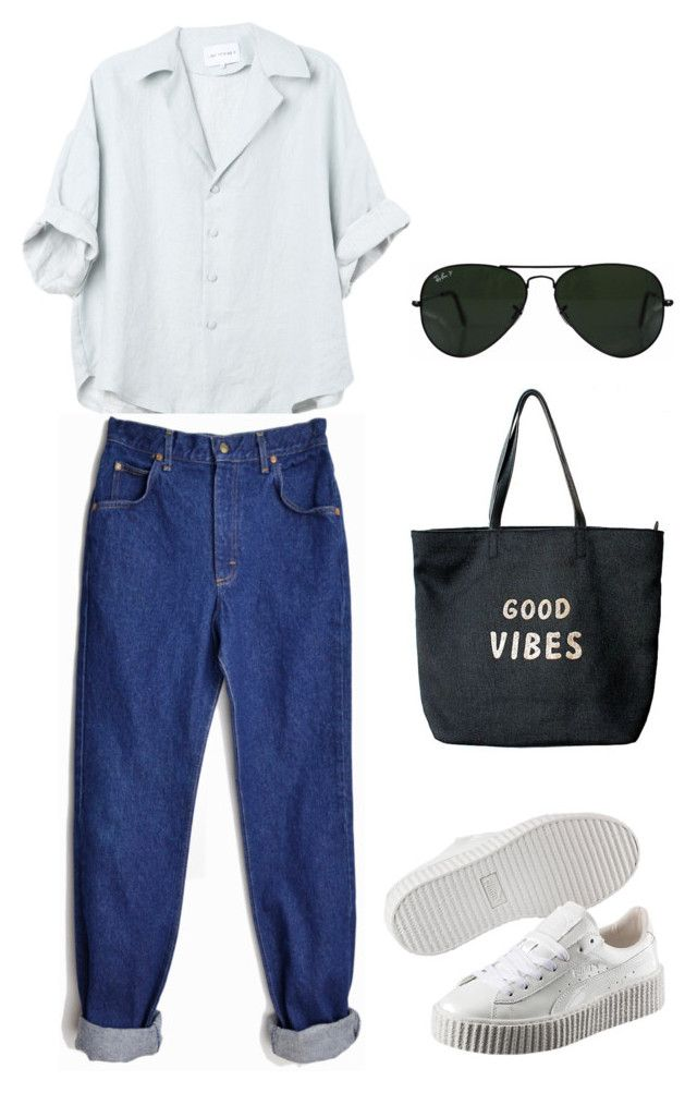 Go #5 by riskisaumirf on Polyvore featuring polyvore, fashion, style, Puma, Venus, Ray-Ban and clothing